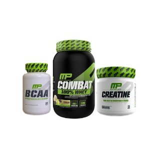[MUSCLEPHARM] Combat 100% Whey (900g) + Creatina (300g) + BCAA (240 caps)