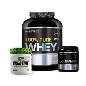 [COMBO Completo] 100% Pure Whey (2kg) + Creatina MP (300g) + L Glutamina (300g)