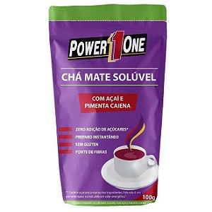CHÁ MATE SOLÚVEL 100g Power1one - Com açaí e pimenta Caiena