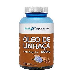ÓLEO DE LINHAÇA 1000mg - 120 caps - Global Nutrition