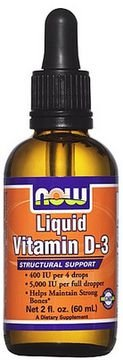 LIQUID VITAMIN D-3 - 30 ml - Now Sports