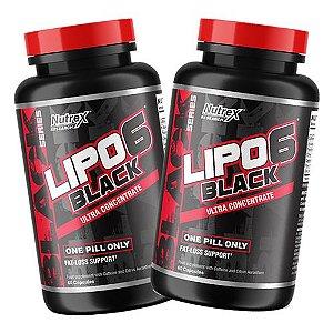 2 UNIDADES - LIPO 6 BLACK 60 CAPS- Nutrex