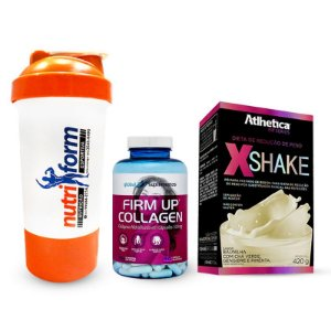 Firm up Collagen 90 caps + X Shake + COQUETELEIRA GRATIS