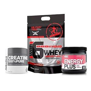 Energy Plus 150g + C. 50g Atletica + Proteína 6 Whey 907g