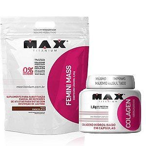 Femini Mass 2.4kg + Colagen 100Caps + BRINDE COQUETELEIRA