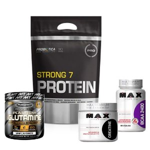 WHEY STRONG 7 + BCAA + GLUTAMINA + C