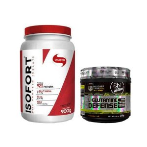 ISOFORT 900g + L-GLUTAMINE DEFENSE - 300g MILITARY TRAIL