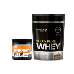 ENERGY PLUS ON  + 100% PURE WHEY PROBIÓTICA 825g