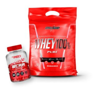 WHEY 100% 907g + BCAA PRO CODE RED SERIES