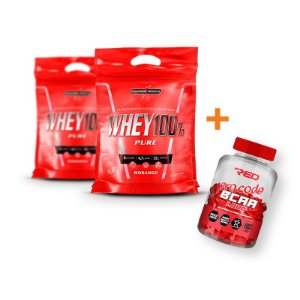 2 100% WHEY PURE + BCAA RED