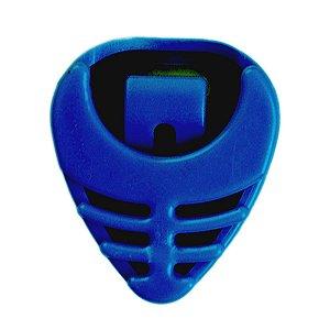 Porta Palheta Em Abs Azul Com Adesivo Para Guitarra Baixo
