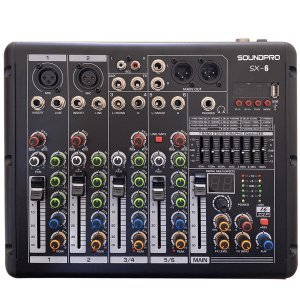 Mesa de Som Analógica 06 Canais Profissional Sound Pro