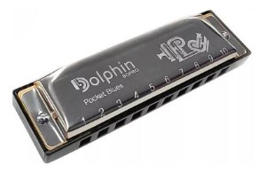 Gaita Boca Diatônica Dolphin Pocket Blues 20 Vozes Em (Dó)