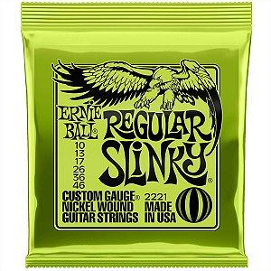 Jogo De Cordas Para Guitarra Ernie Ball 010 Regular Slinky