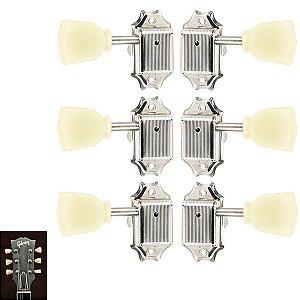 Tarraxas Vintage Botão Creme Para Violão Guitarra Les Paul 3x3