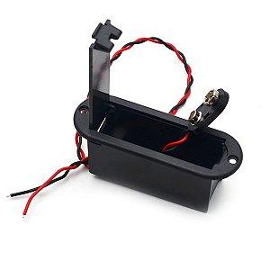 Caixa Compartimento Bateria 9 Volts Conector Baixo Guitarra