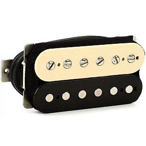 Captador Guitarra Humbucker Malagoli Custom 59 Braço Preto E Creme