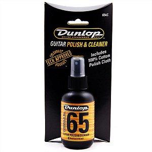 Limpador Polidor Dunlop Para Guitarra Baixo F65 Com Flanela