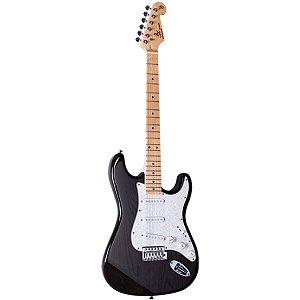 Guitarra Elétrica Stratocaster Sx SSTASH Preta Ash Series