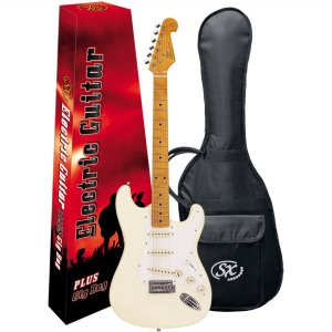 Guitarra Elétrica Stratocaster Sx SST57 Branco Vintage Series