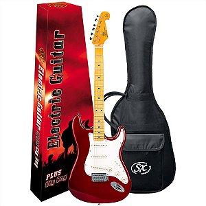 Guitarra Elétrica Stratocaster Sx SST57 Vermelha Vintage Series
