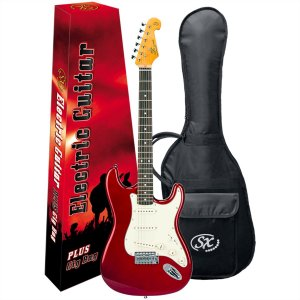 Guitarra Elétrica Stratocaster Sx SST62 Vermelha Vintage Series