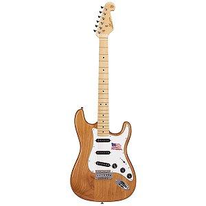 Guitarra Elétrica Stratocaster Sx SSTALDER Natural Alder Ser