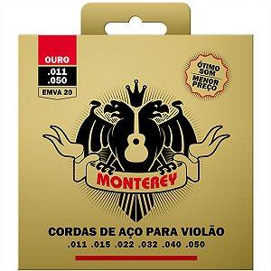 Jogo De Cordas Para Violão Aço Solez Monterey 011