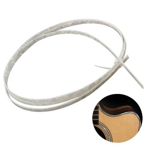 Filete Branco Perolado 2mm 1,65 Metros Para Instrumento Musical