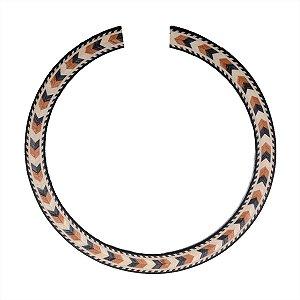Roseta Mosaico De Madeira Estampa Violão Nylon e Viola 110mm