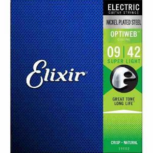 Encordoamento Para Guitarra Optiweb 009 Elixir