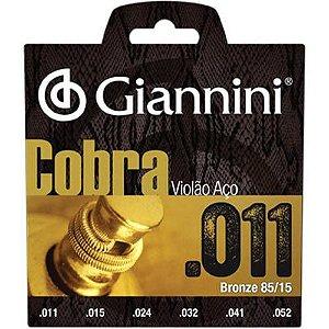 Encordoamento Para Violão Aço Cobra 011 Giannini Oferta