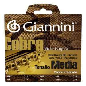Encordoamento Para Viola Caipira Tensão Média Cobra Giannini  super oferta