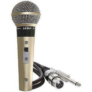 Microfone Profissional Sm58 P4 Champanhe