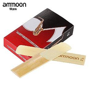 Palhetas Sax Alto Ammoon N°2 1/2 Caixa Com 10