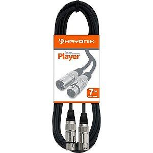 Cabo Para Microfone Xlr(f) X Xlr(m) 7m Player Hayonik