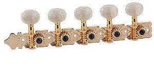 Tarrachas Para Viola Standard Dourada Pino Fino Deval