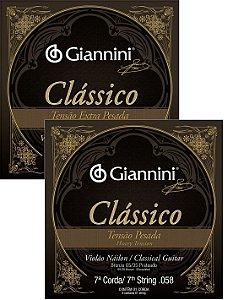 7a Corda Avulsa Para Violão Nylon Giannini Classico Corda (Si) Tensão Pesada-Extra Pesada