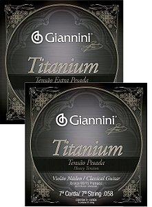 7a Corda Avulsa Para Violão Nylon Giannini Titanium Corda (Si) Tensão Pesada-Extra Pesada