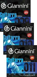 Encordoamento Cordas Para Guitarra Giannini 09-010-011