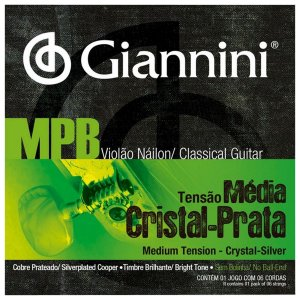 Cordas Para Violão Giannini Nylon Cristal Prata Média