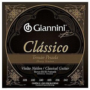 Cordas Para Violão Giannini Nylon Tensão Pesada Clássico