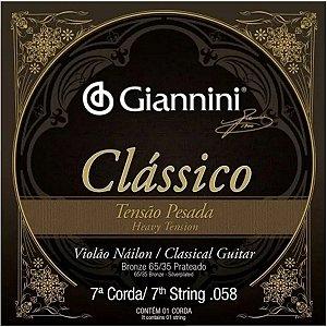 Cordas Para Violão Giannini Nylon 7a Corda Classico