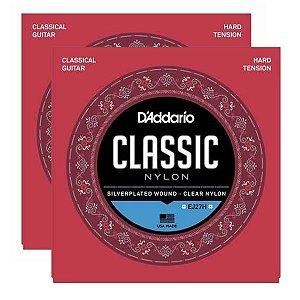 Kit Com 02 Jogos De Cordas Para Violão Nylon Tensão Alta Classic EJ27H Daddario