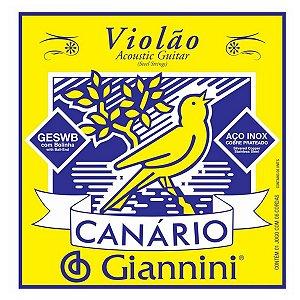 Cordas Para Viola Giannini Canário Com Bolinha