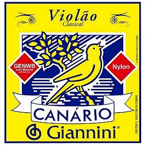 Cordas Para Violão Giannini Canário Nylon Com Bolinha
