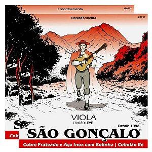 Kit Com 02 Jogos De Cordas Para Viola Caipira Tensão Leve São Gonçalo