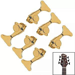 Jogo De Tarrachas Tarraxas Blindada Dourada Para Baixo 6 Cordas  3x3