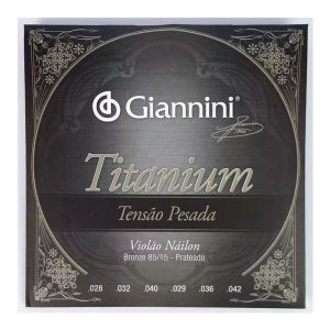 Encordoamento Cordas Para Violão Nylon Titanium Pesada Giannini