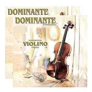 Kit Com 02 Jogos De Cordas Para Violino 4x4 Dominante